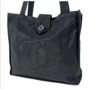 60371ac317c CHANEL Bags   Auth Nylon Tote Handbag   Poshmark